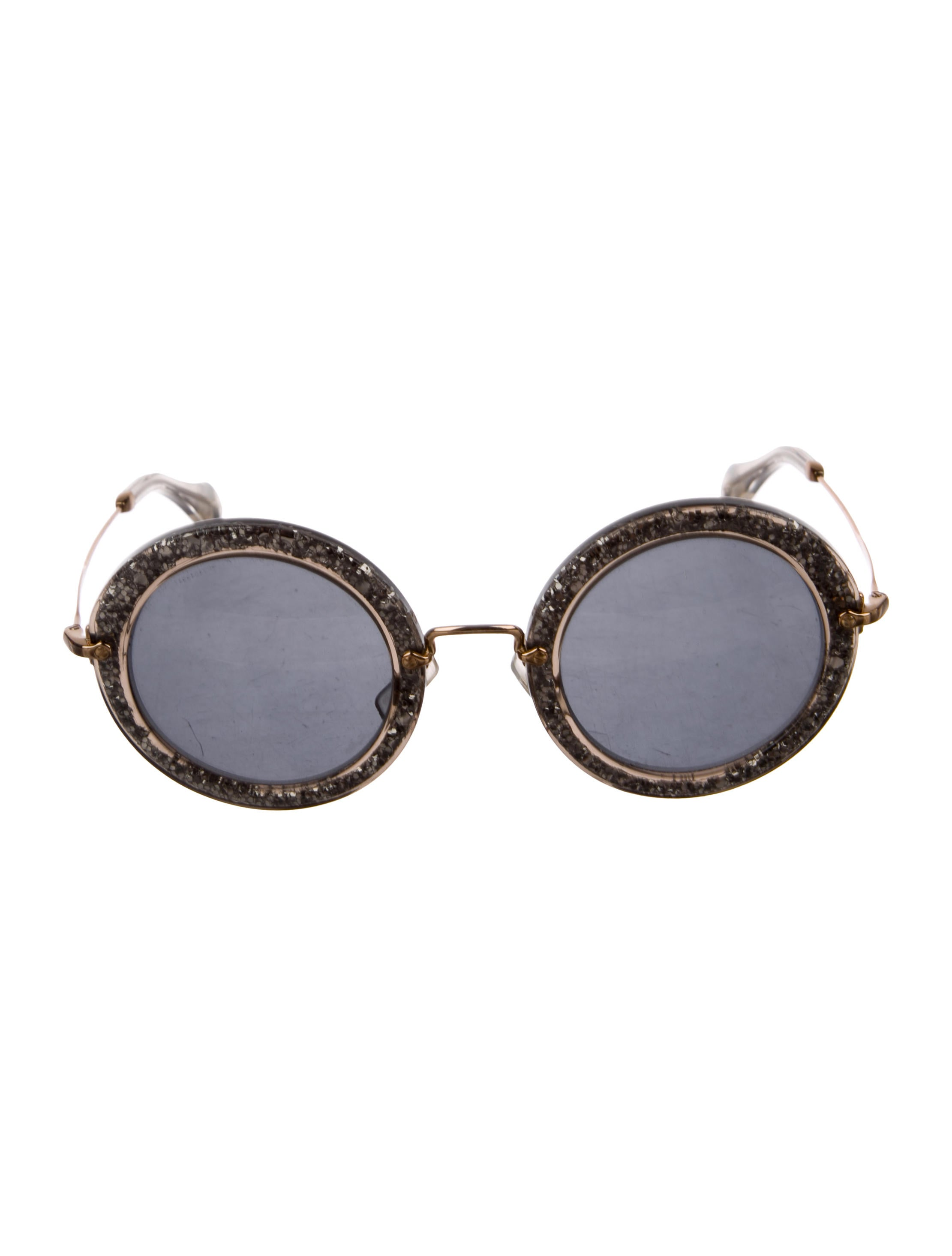 6c1a95efb1 Women · Accessories  Miu Miu Round Glitter Sunglasses. Round Glitter  Sunglasses