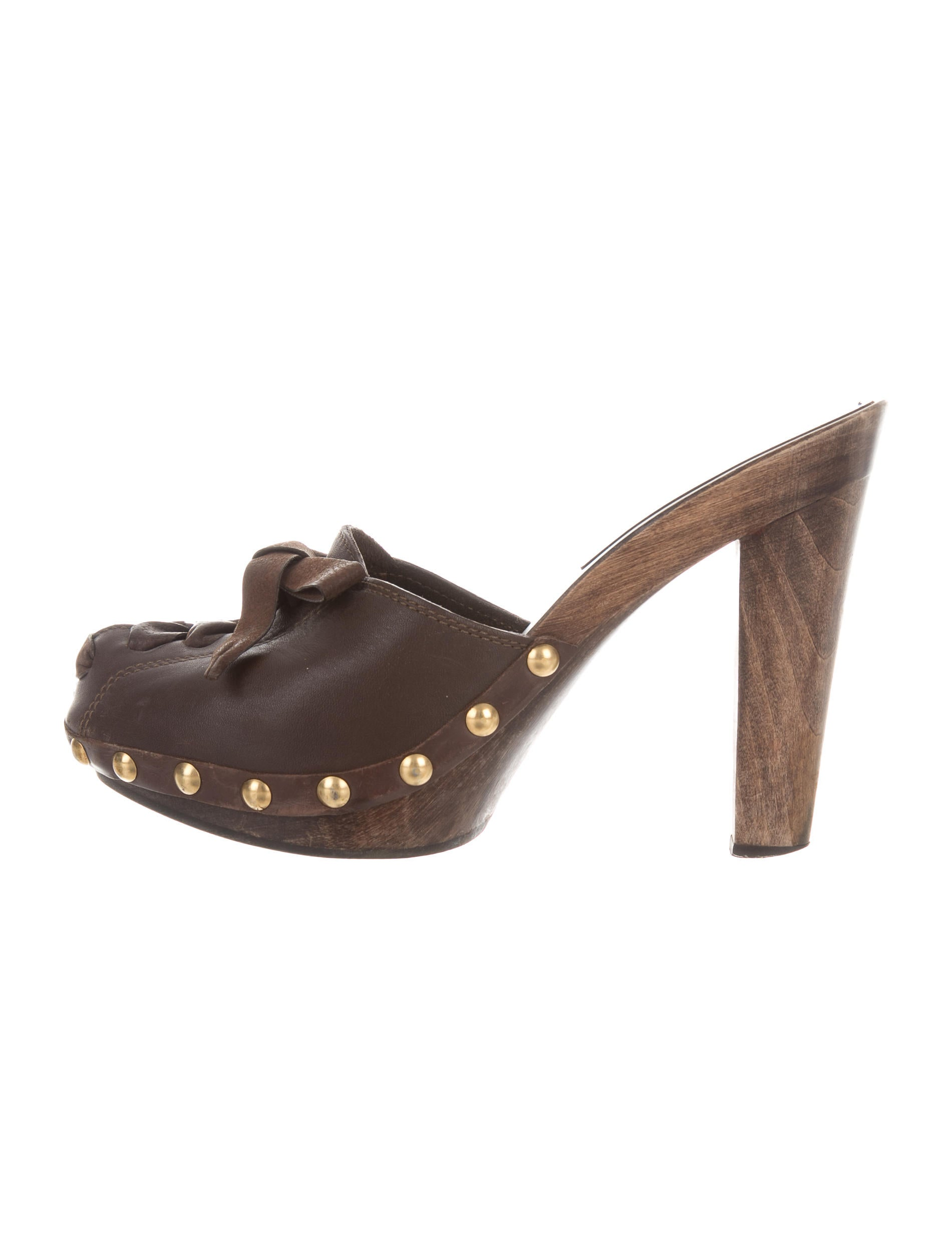 Miu Miu Leather Embellished Clogs free shipping brand new unisex free shipping view r1GeP