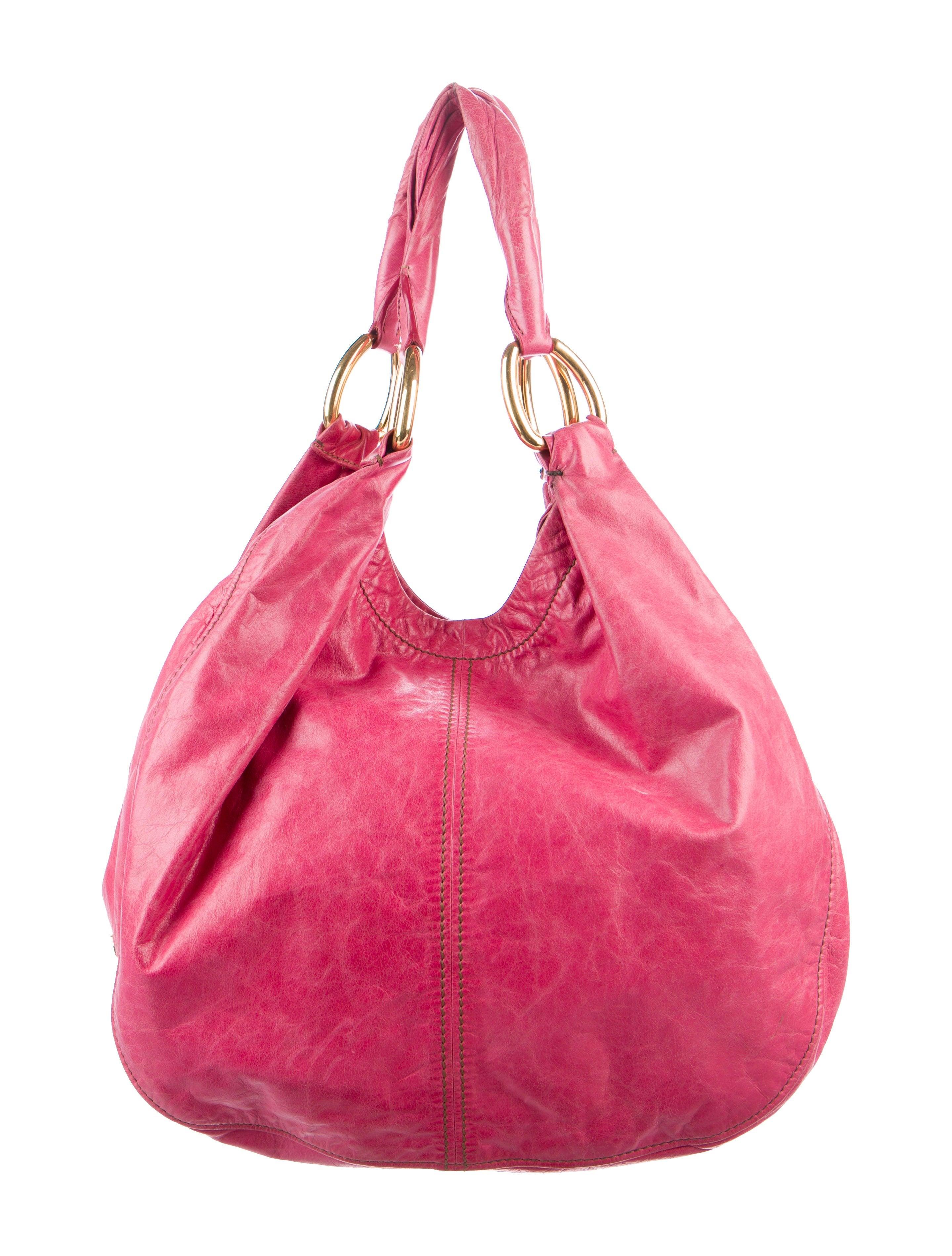 75828c567 Miu Miu Distressed Leather Hobo - Handbags - MIU61394 | The RealReal