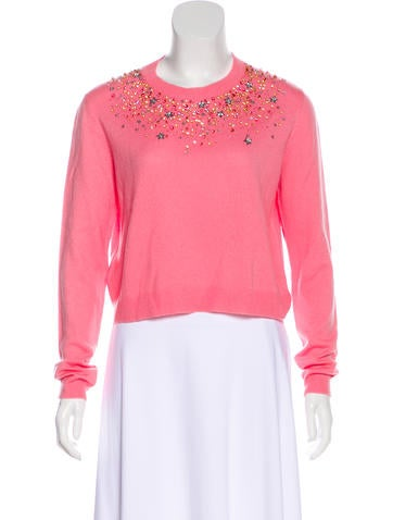 Miu Miu Embellished Cashmere Sweater None