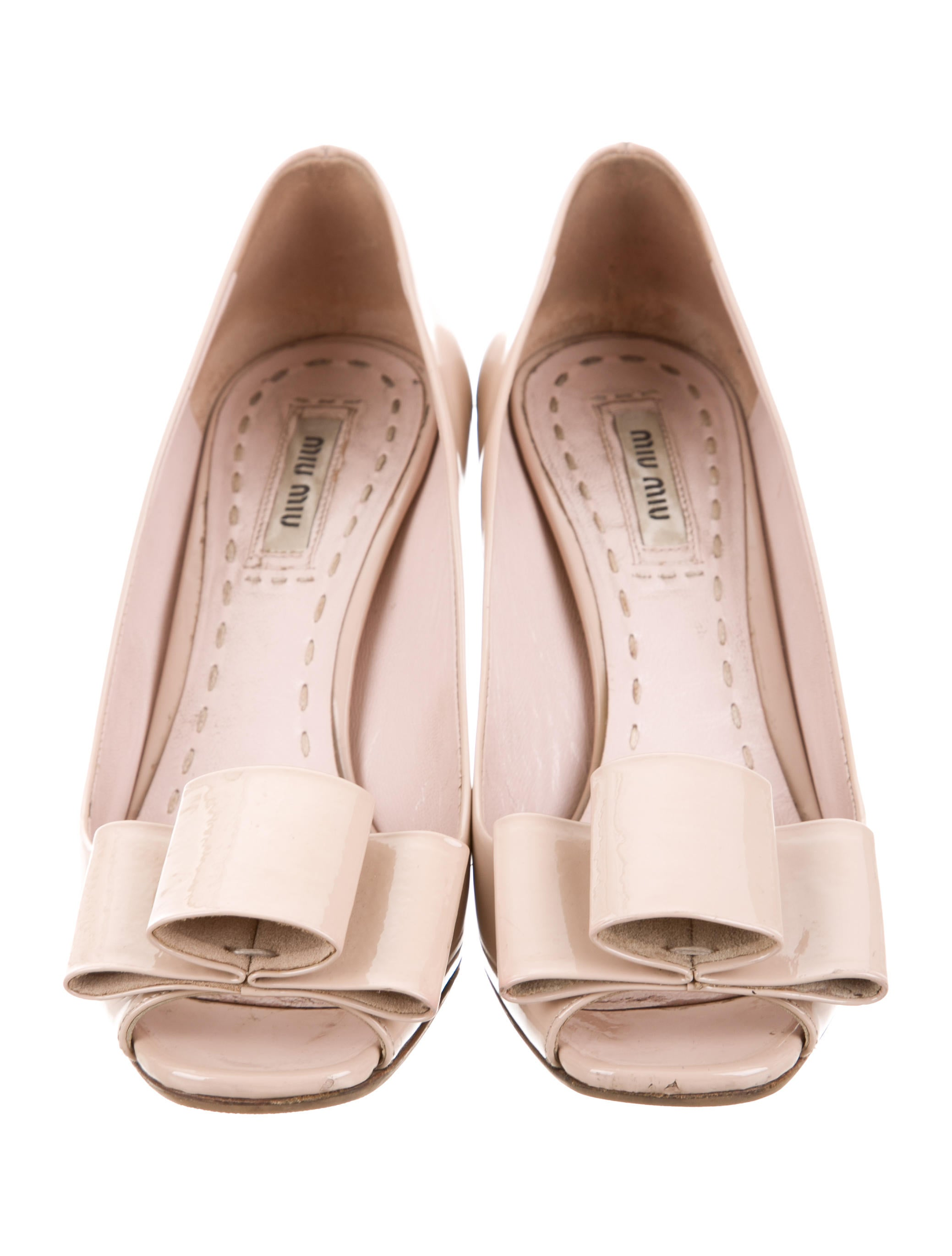 exclusive buy cheap great deals Miu Miu Bow-Accented Peep-Toe Pumps browse cheap online outlet online shop discount for cheap XipNRew3