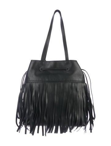 634911fea9b Miu Miu Montana Fringe Bucket Bag w  Tags - Handbags - MIU61649 ...