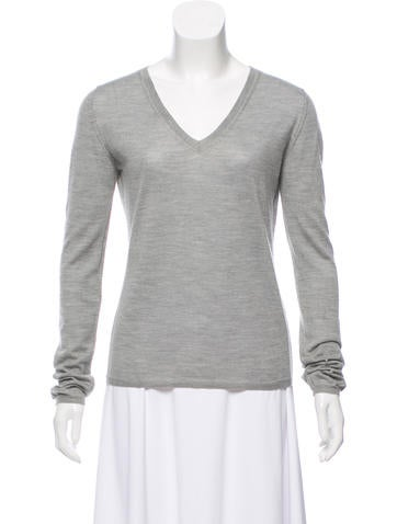 Miu Miu V-Neck Knit Sweater None