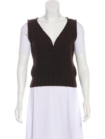 Miu Miu Wool Sleeveless Top None