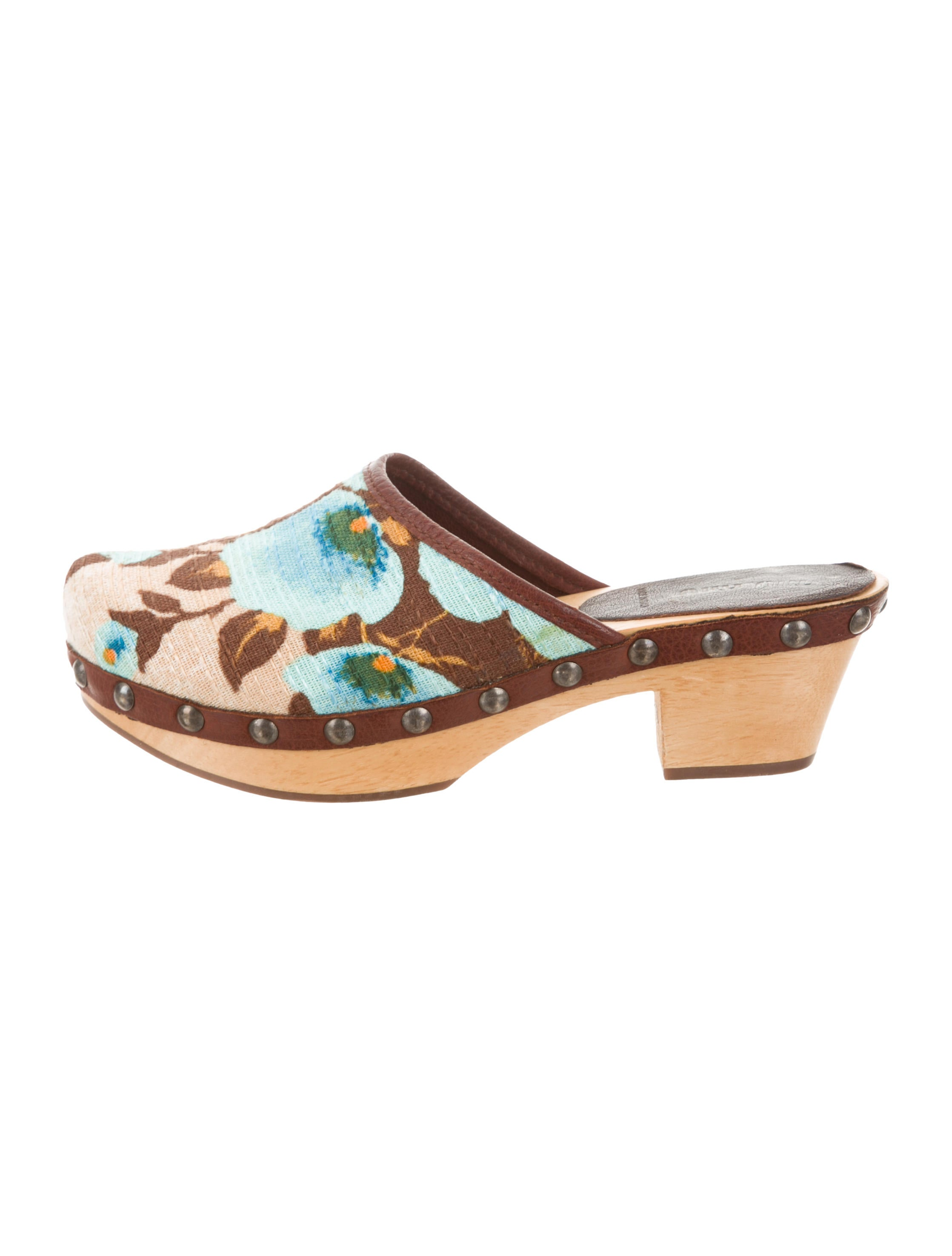 Miu Miu Printed Round-Toe Clogs cheap sale latest discount brand new unisex amazing price clearance fake cheap sale official site CjuY9kLht2