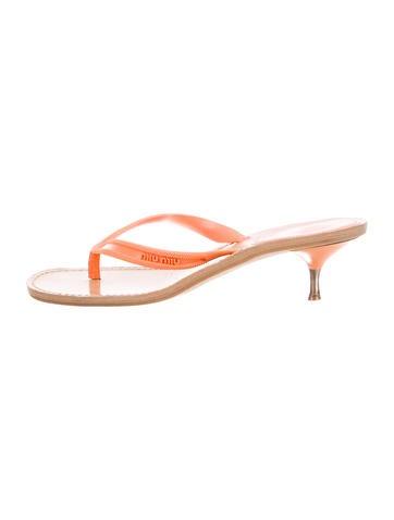 Miu Miu Logo Thong Sandals None