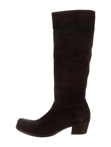 cheap professional Miu Miu Suede Square-Toe Knee-High Boots cheap sale shopping online amazon footaction sale from china outlet official site PTjc6