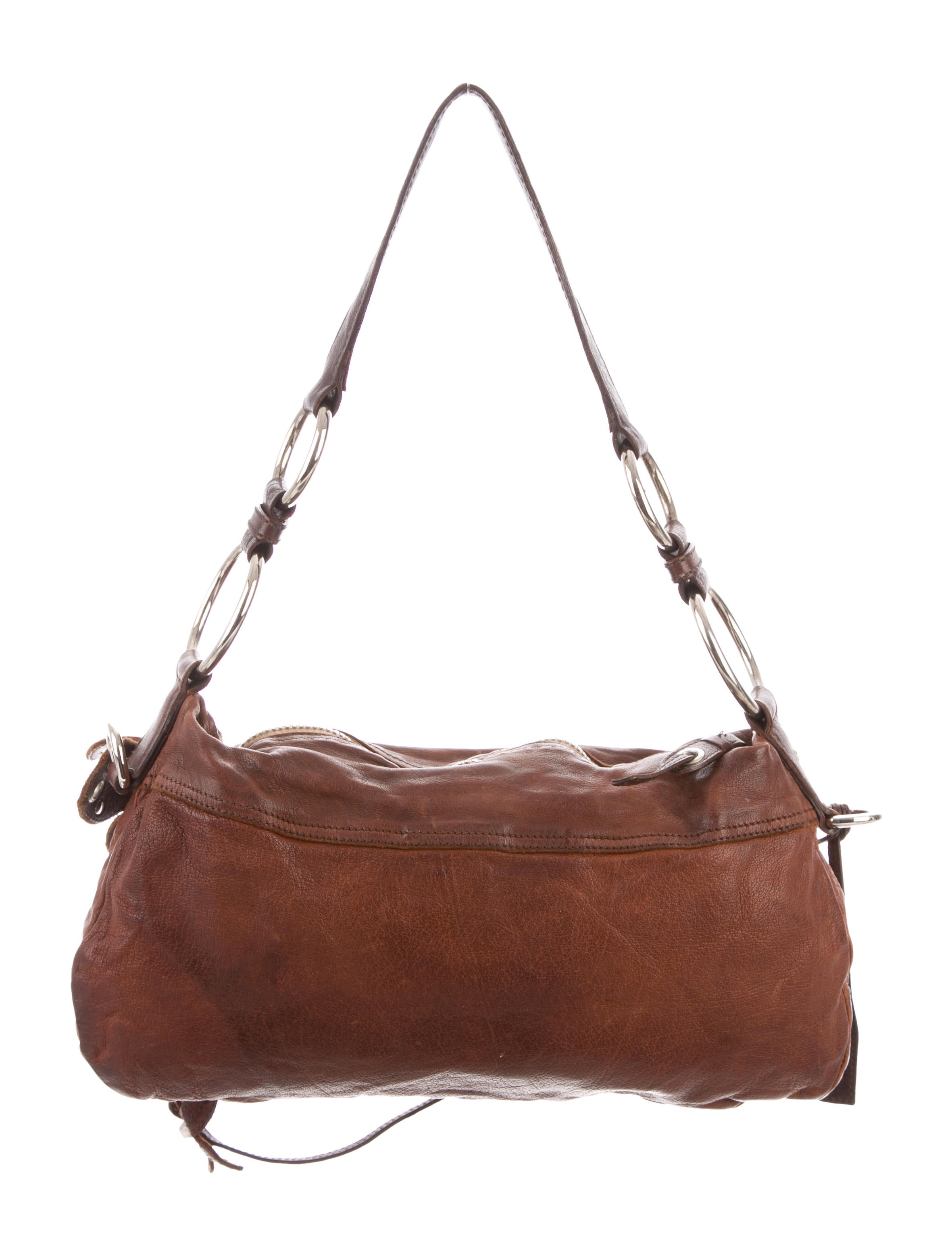 Miu Distressed Leather Bag Shoulder Miu P6r8qP-straits ... 2bdede73844b2