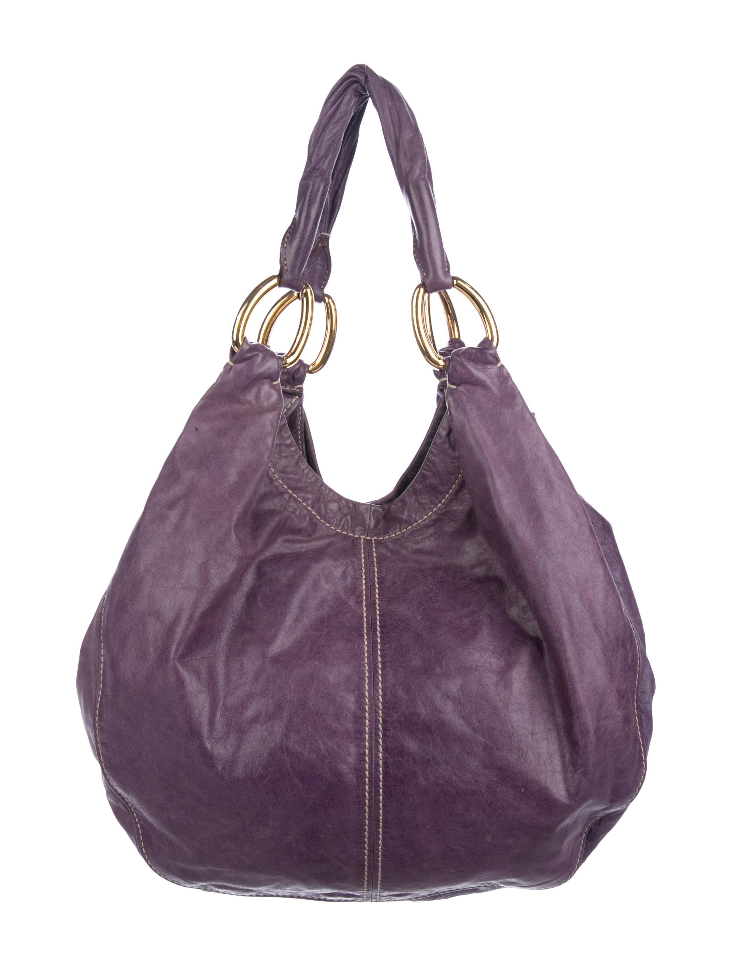 a280cd33e845 Miu Grained Leather Hobo Handbags Miu68322 The Realreal
