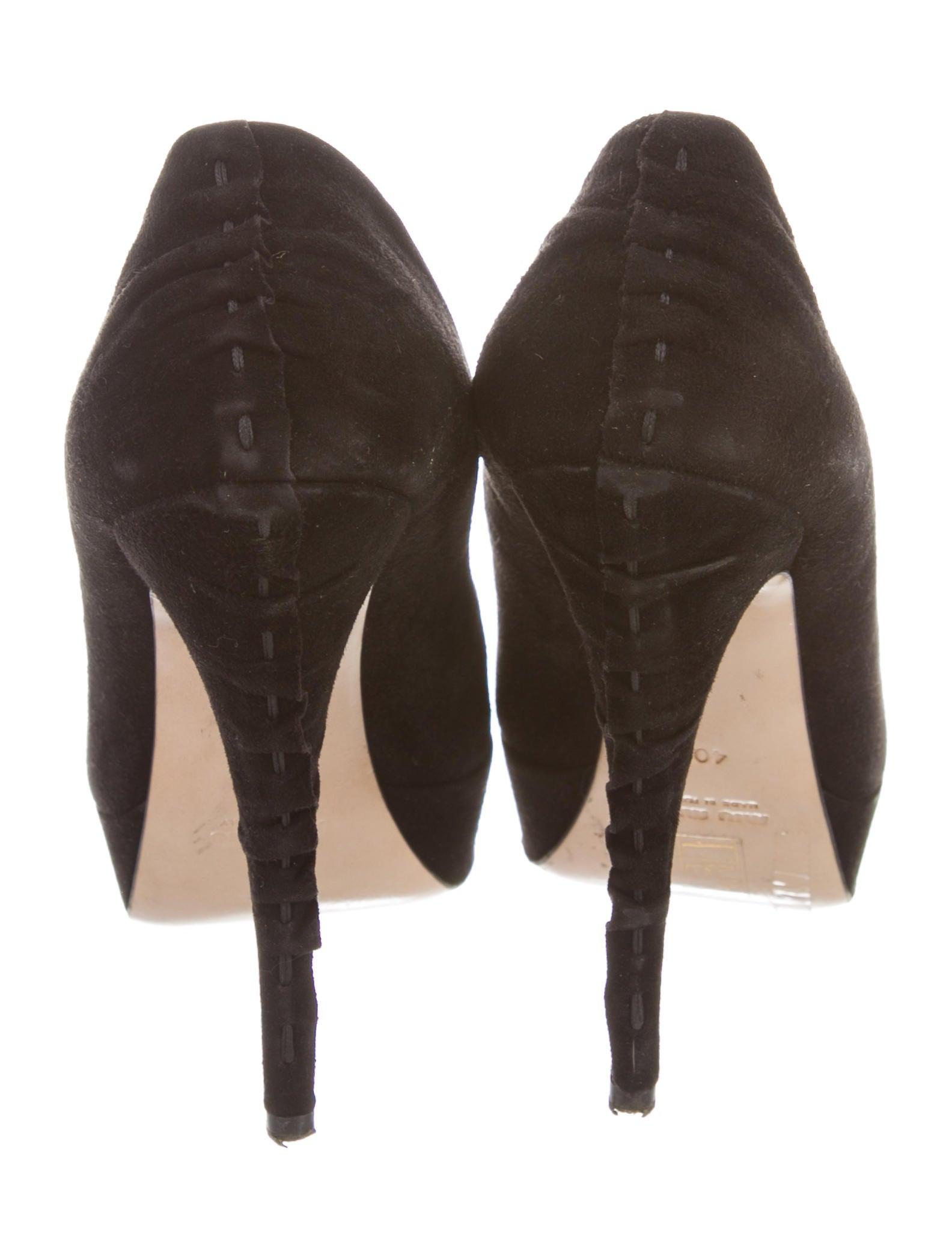 ec21d8d76aca Miu Miu Suede Platform Pumps - Shoes - MIU69740
