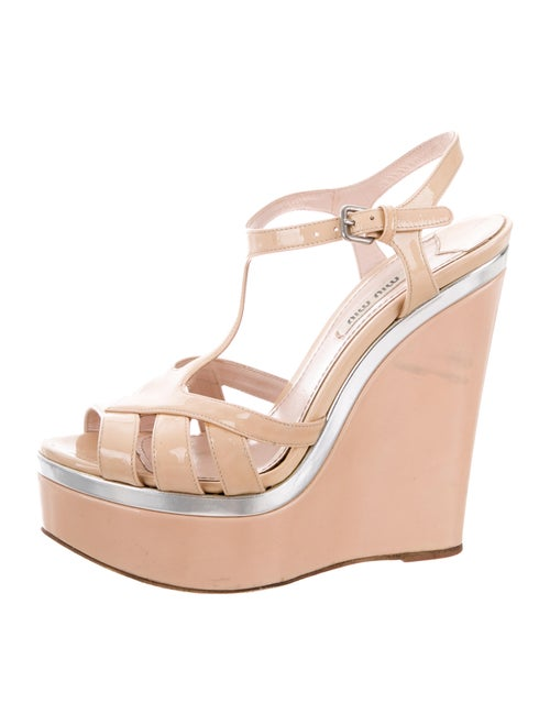 f228dceb77f8 Miu Miu Platform Wedge Sandals - Shoes - MIU70324