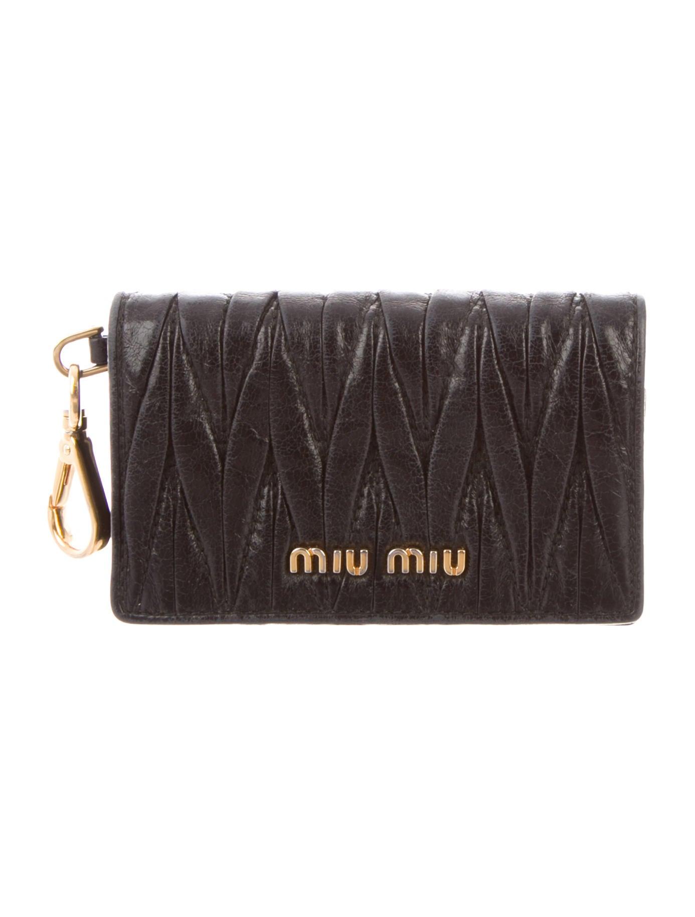 5e9ccd779e72 Miu Miu Matelassé Mini Wallet - Accessories - MIU70351
