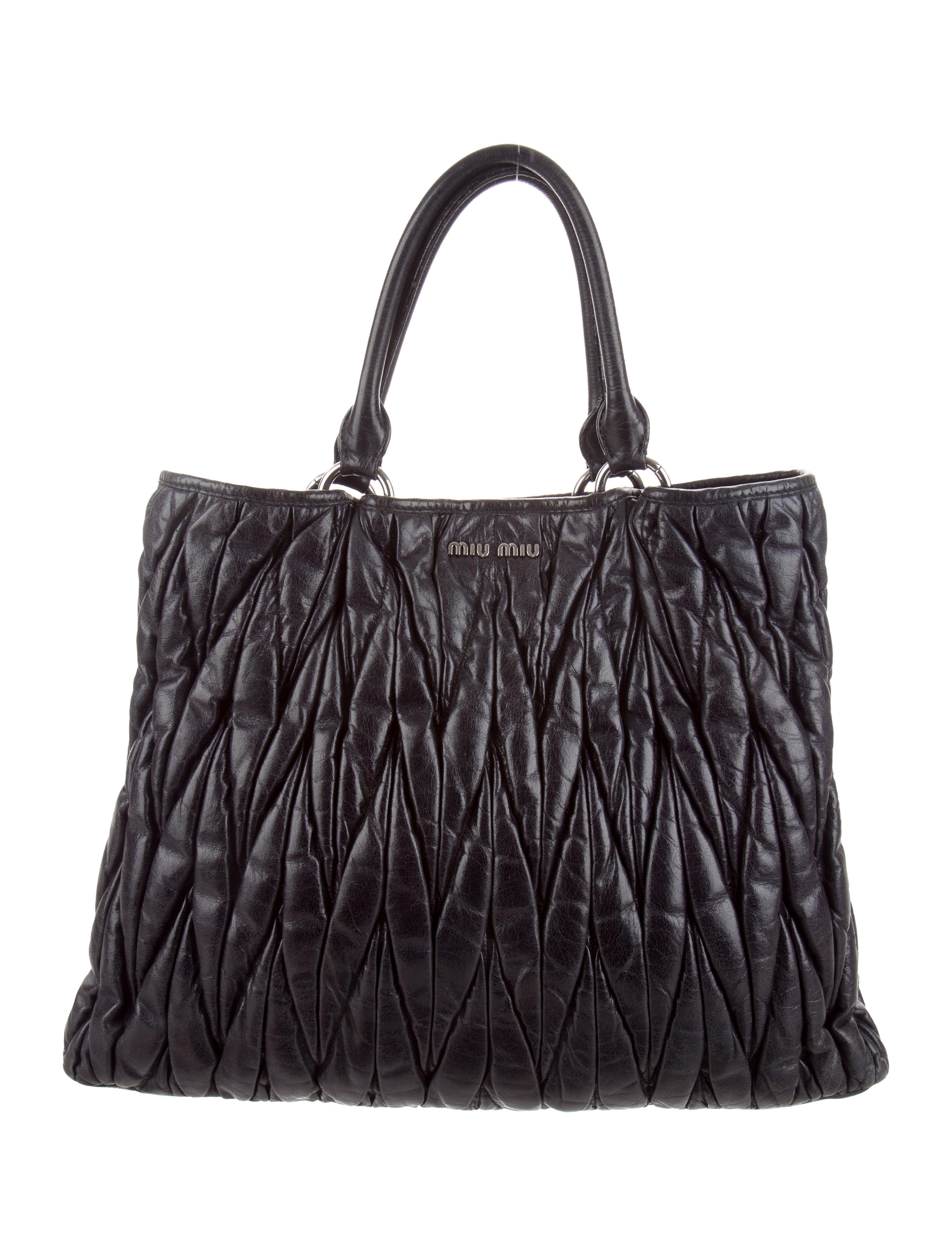 bf68b496a144 Miu Miu Matelassé Leather Satchel - Handbags - MIU73446