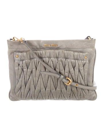 5595f148f209 Miu Miu. Leather Crossbody Bag