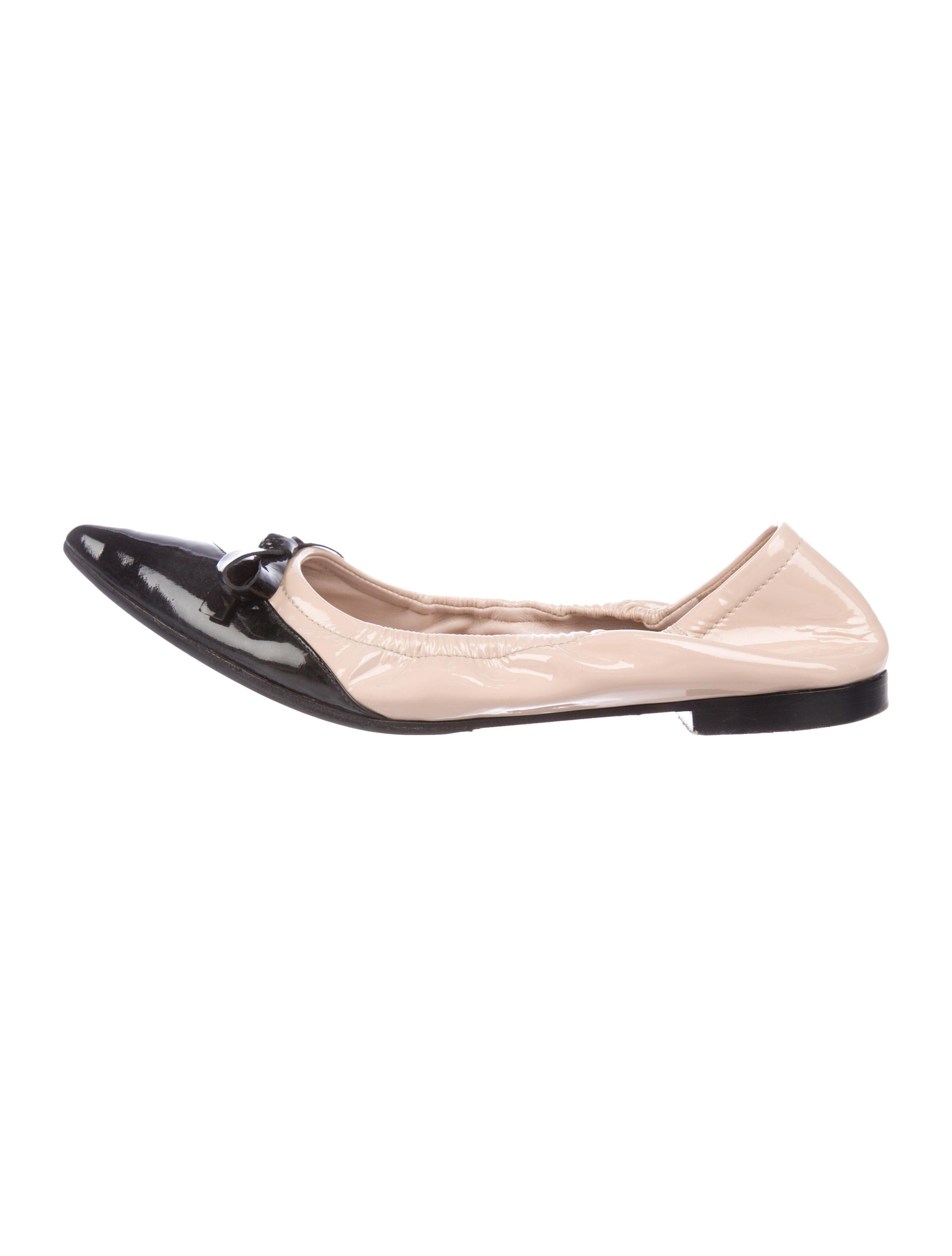 Miu Miu Pointed-Toe Ballet Flats - Shoes - MIU78303  cbd6a1f0b5c5e