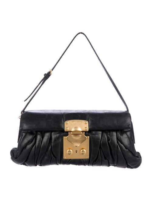 Miu Miu Pleated Matelassé Frame Clutch - Handbags - MIU78494  772c90b866eb1