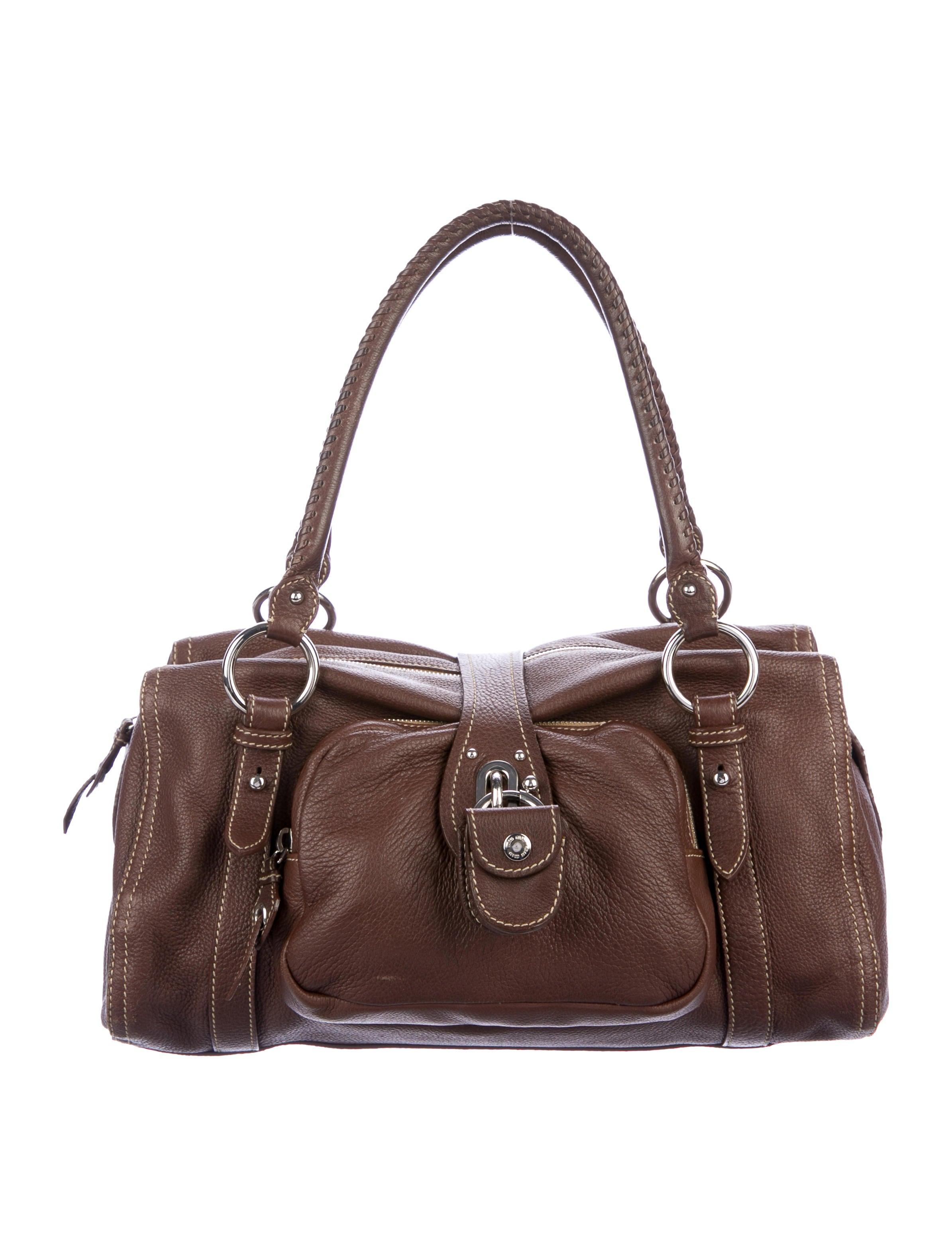 d10d68beab Miu Miu Leather Pocket Shoulder Bag - Handbags - MIU79267