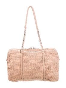 883483f5a999 Miu Miu. Matelassé Leather Bag