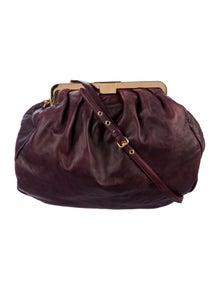 09e35e75deb Miu Miu. Leather Frame Bag