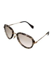 29cbedb317bd Miu Miu. Marble Aviator Sunglasses