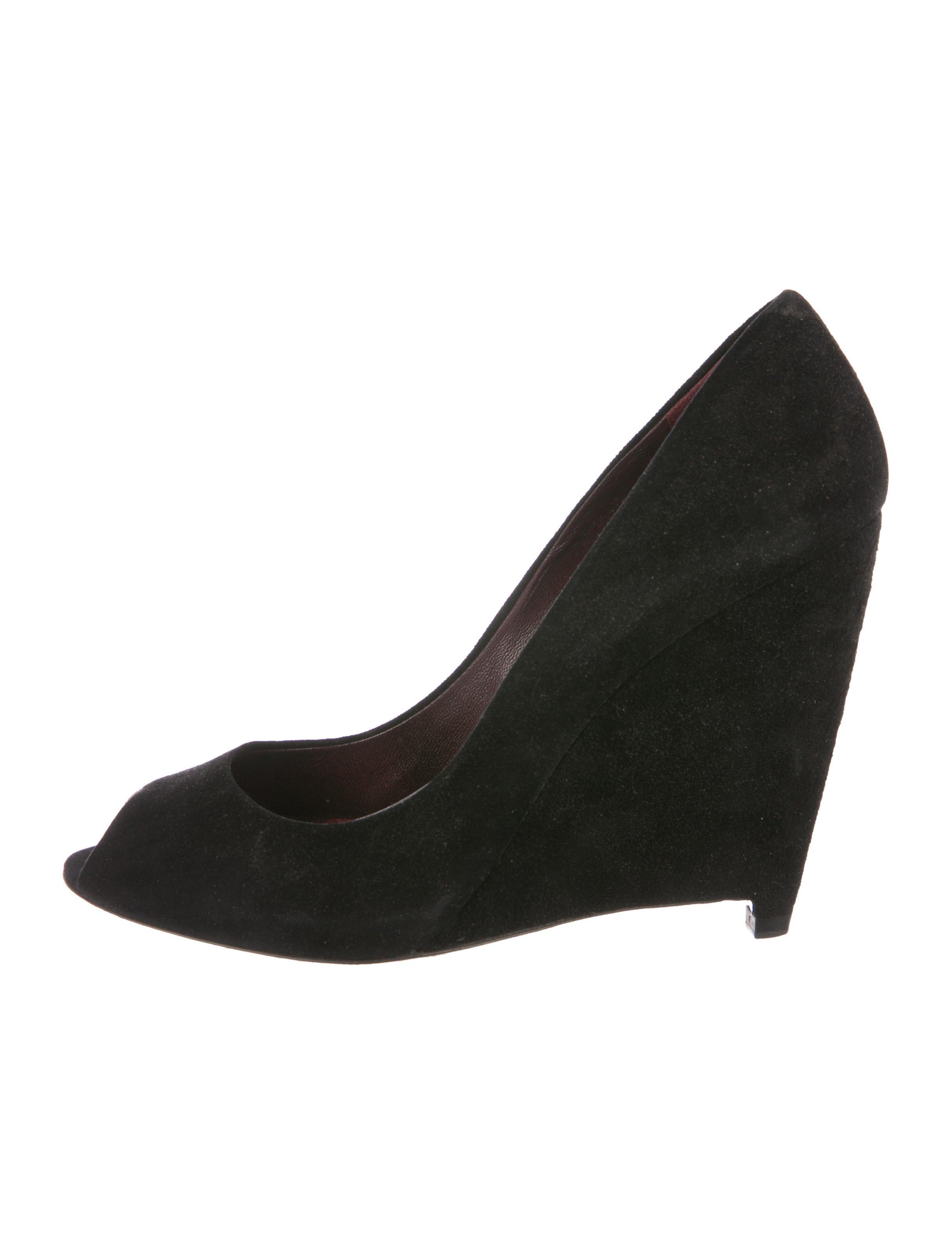 d10451305e52 Miu Miu Suede Round-Toe Wedges - Shoes - MIU80063