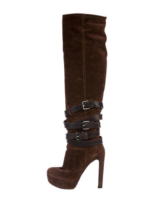 42f31a870600 Miu Miu Suede Knee-High Boots - Shoes - MIU80148
