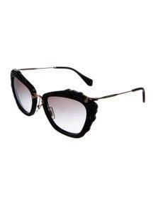 77e16a92b743 Miu Miu. Embellished Gradient Sunglasses
