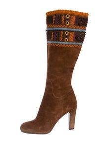 1fd4d28810c7 Miu Miu. Embellished Suede Boots