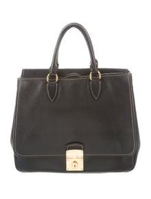 8e598e7011af4 Miu Miu. Leather Handle Bag
