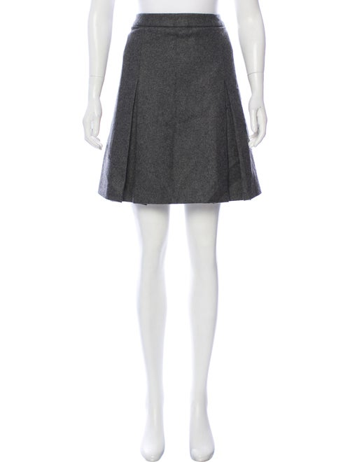Miu Miu Mini Wool Skirt wool