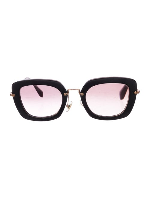 Miu Miu Square Gradient Sunglasses Black