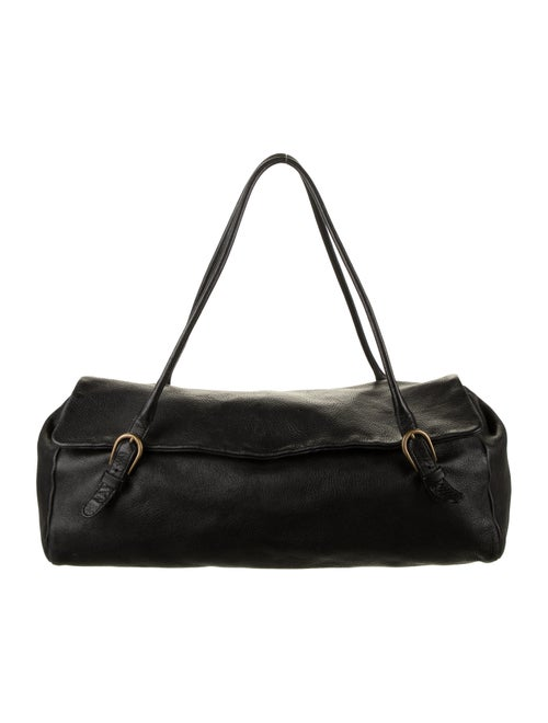 Miu Miu Grained Leather Shoulder Bag Black