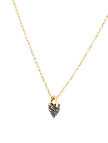 Black diamond necklace heart