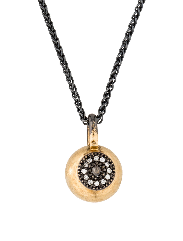 mizuki diamond ball evil eye pendant necklaces. Black Bedroom Furniture Sets. Home Design Ideas