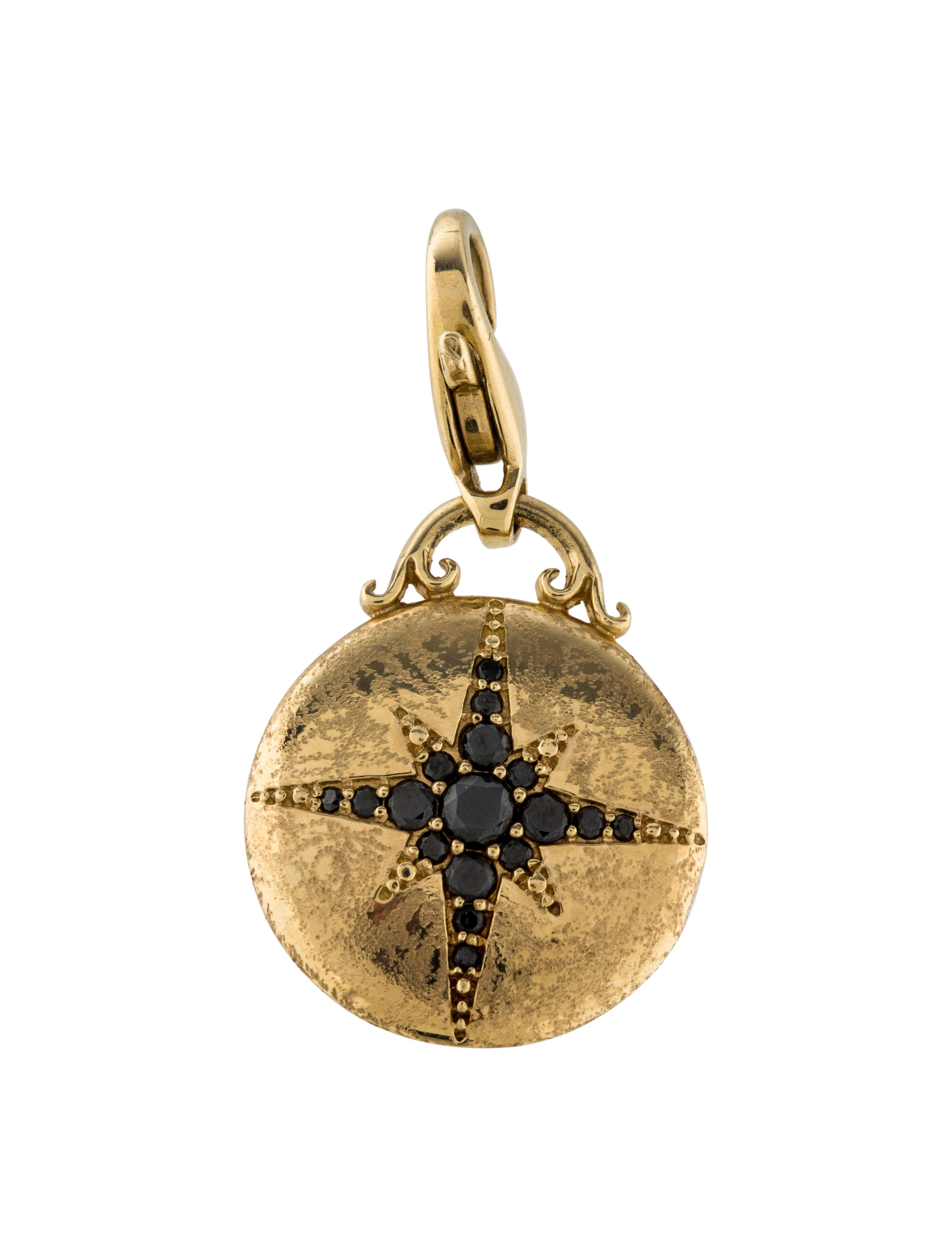 Mizuki 14k black diamond star pendant necklaces for Star hallmark on jewelry