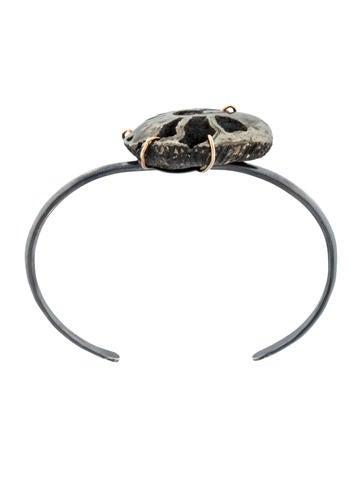 Pyritized Ammonite Shell Cuff