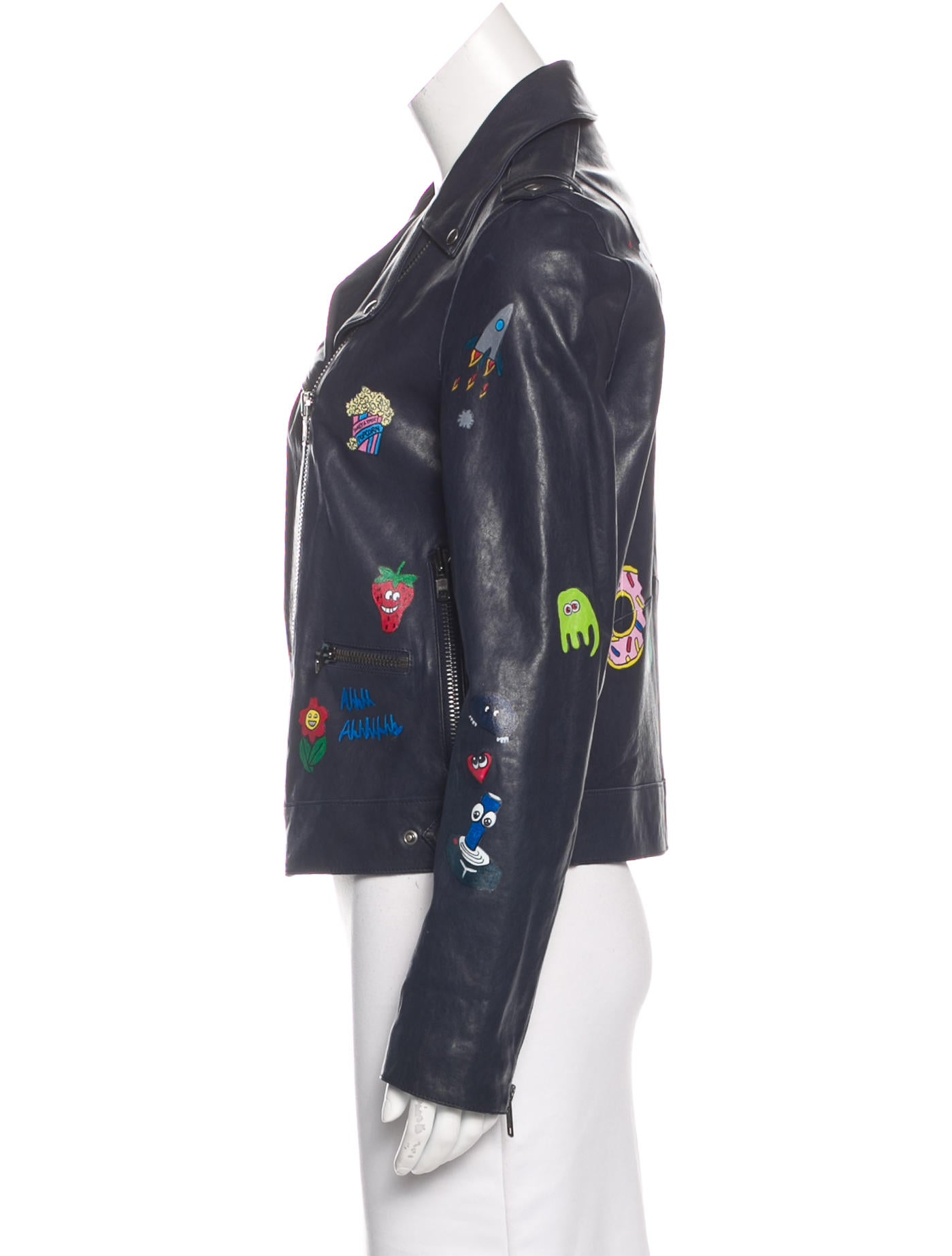 Hand painted leather jackets