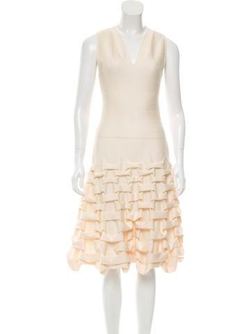 Maison Rabih Kayrouz Ruched Wool-Blend Dress None
