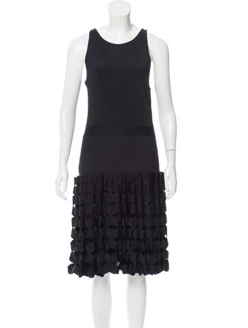 Maison Rabih Kayrouz Open Knit Midi Dress None