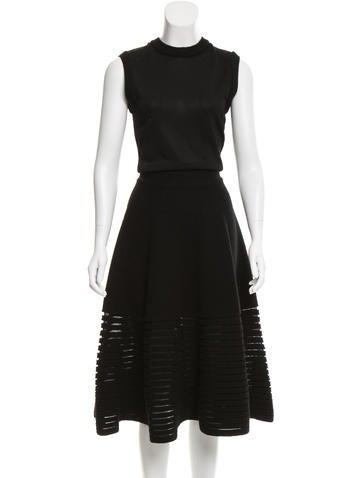 Maison Rabih Kayrouz Wool-Blend Midi Dress w/ Tags None