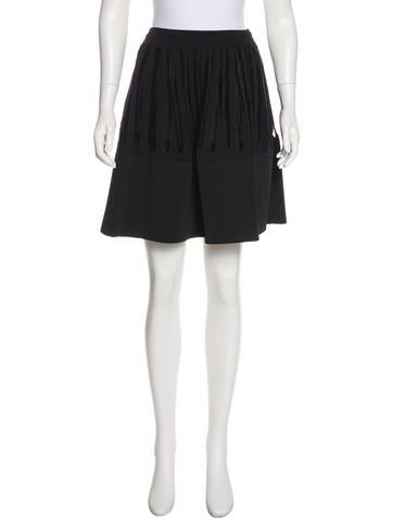 Maison Rabih Kayrouz Fringe-Accented A-Line Skirt None