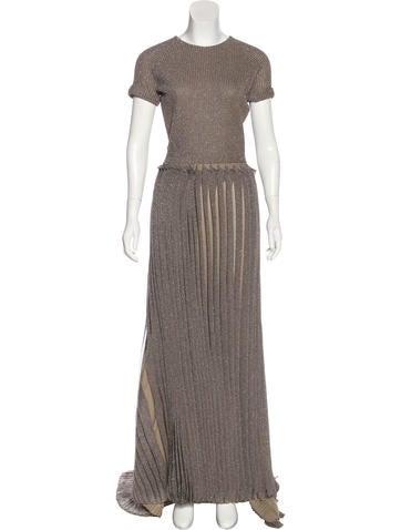 Maison Rabih Kayrouz Metallic Knit Evening Dress None