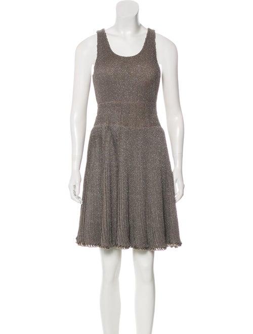 Maison Rabih Kayrouz Pleated Metallic Dress metall