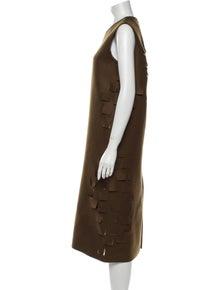 Maison Rabih Kayrouz Fleece Wool Midi Length Dress