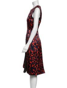 Maison Rabih Kayrouz Animal Print Midi Length Dress