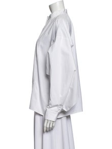 Maison Rabih Kayrouz Mock Neck Long Sleeve Blouse