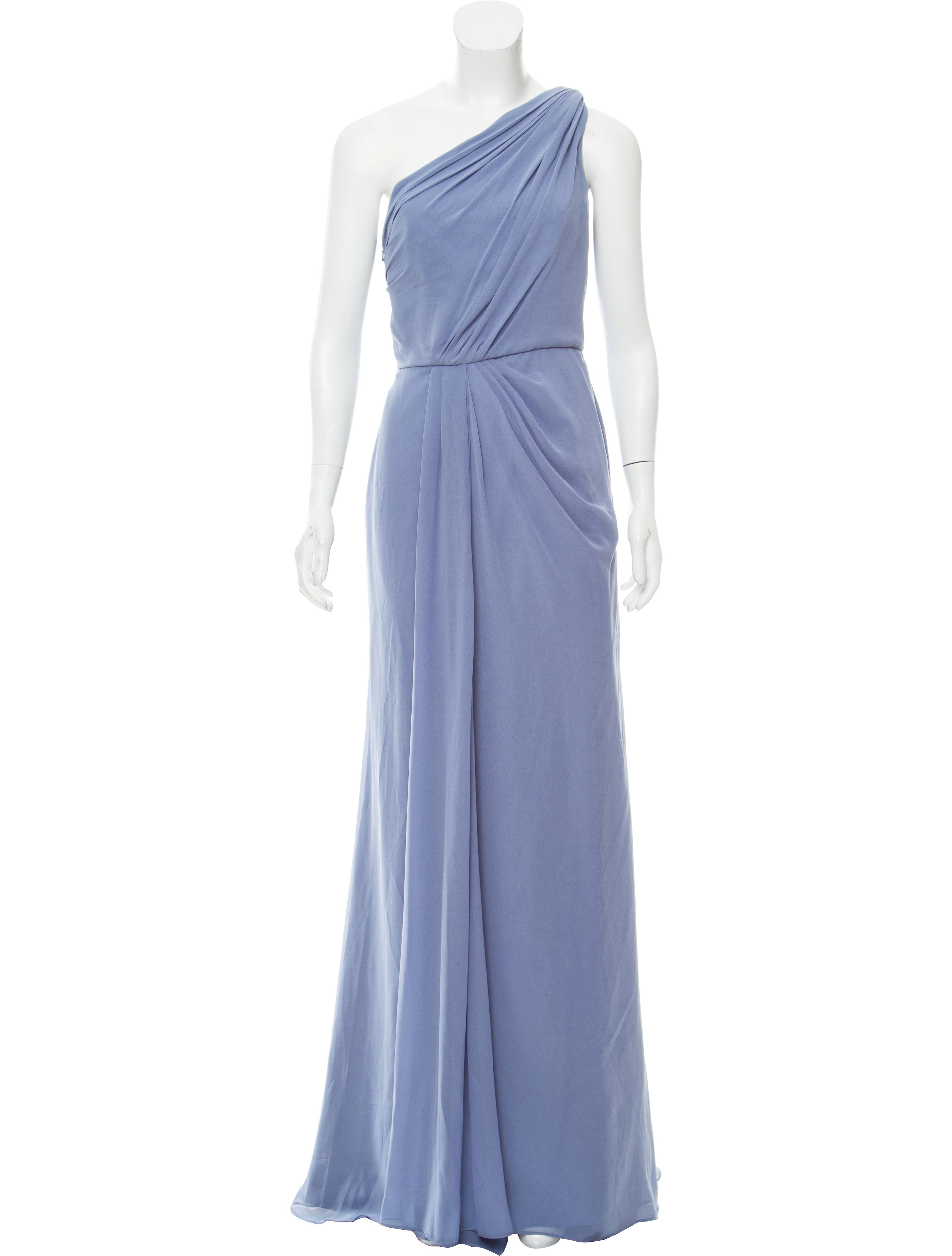 Monique Lhuillier Bridesmaids One-Shoulder Evening Dress w/ Tags ...