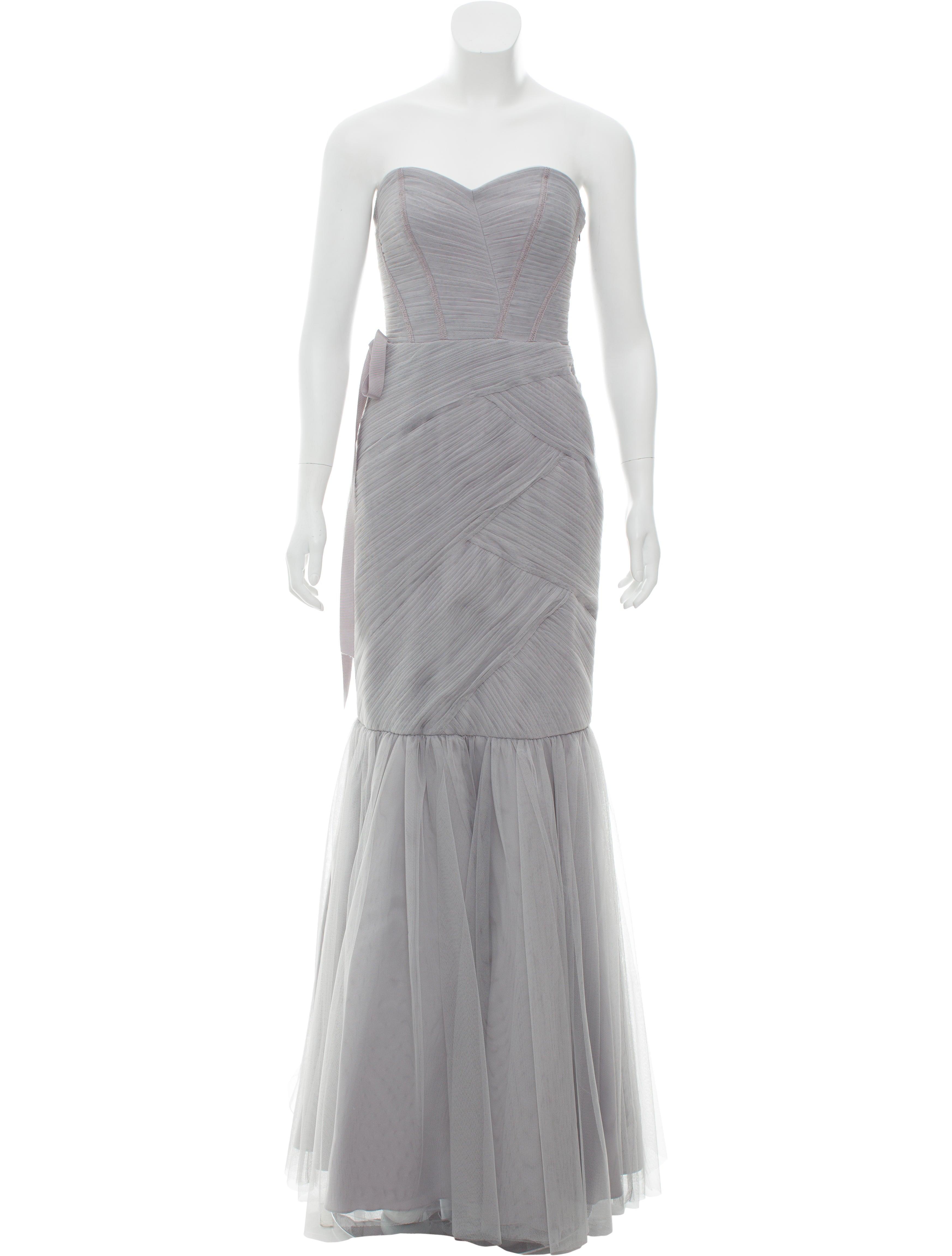 Monique Lhuillier Bridesmaids Strapless Tulle Evening Dress w/ Tags ...