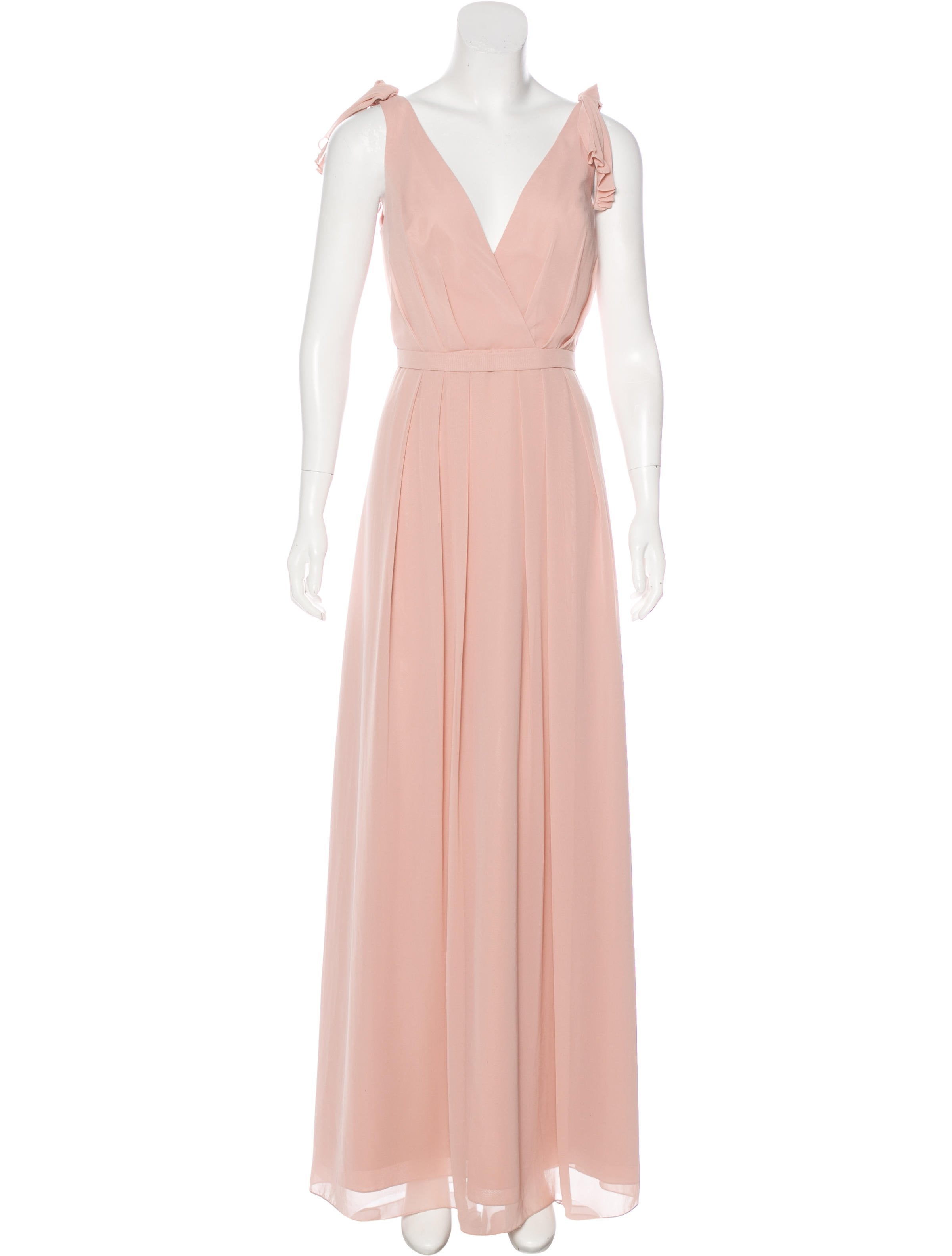Monique Lhuillier Bridesmaids Sleeveless Evening Gown - Clothing ...