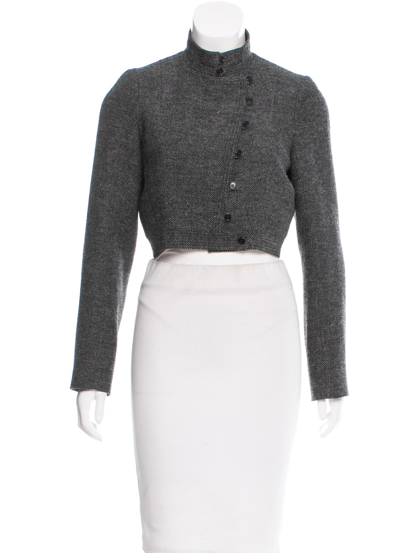 Morgane Le Fay Wool Herringbone Jacket Clothing